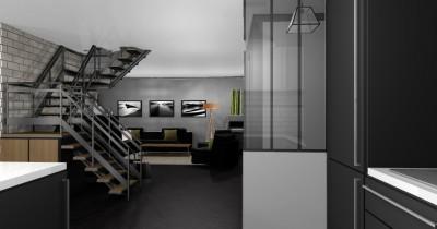 Vue verrière et escalier