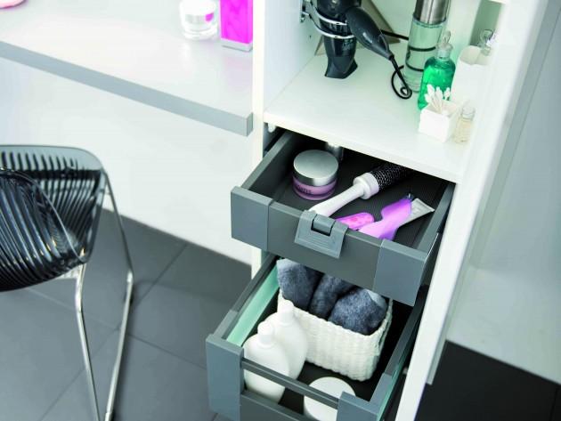 armoire de rangement avec tiroirs coulissants