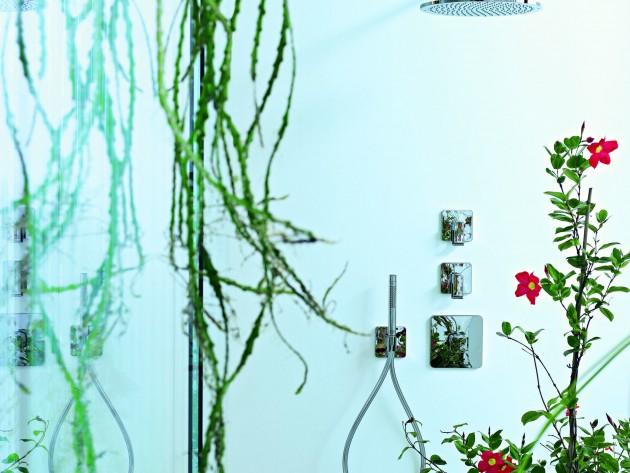 salle de bains design urquiola hansgrohe et axor ciel de pluie douche id. Black Bedroom Furniture Sets. Home Design Ideas