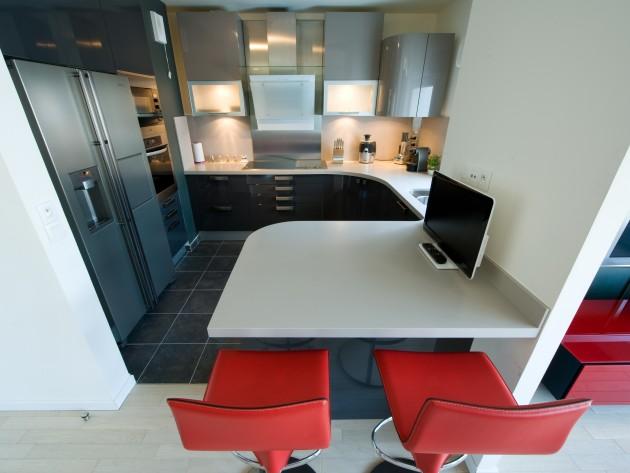 Cuisine moderne et design cuisine am nagement l for Amenagement cuisine moderne
