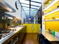 cuisine design industrielle lumineuse