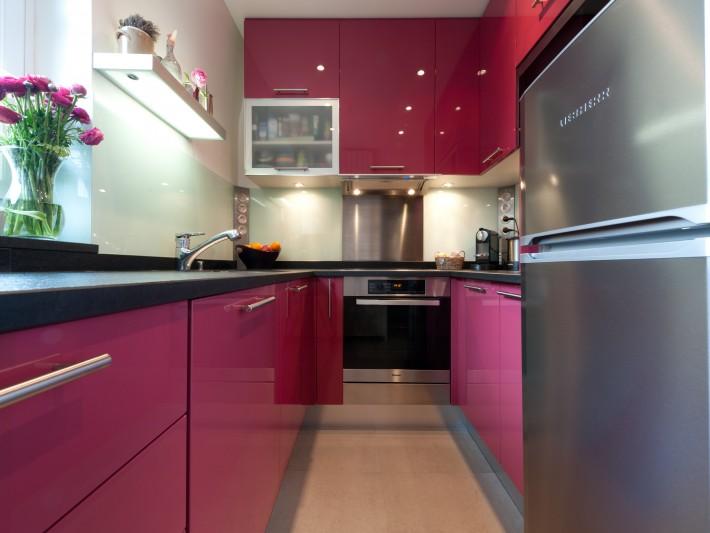 cuisine laqu et granit skconceptparis cuisine laqu rose cr dence verre id. Black Bedroom Furniture Sets. Home Design Ideas