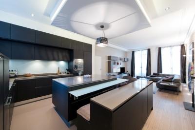 Idee deco cuisine photo cuisine id - Image cuisine ouverte sur salon ...