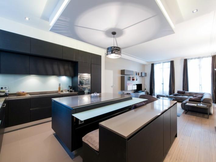Amenagement D Un Duplex Contemporain Cuisine Ouverte Sur Salon