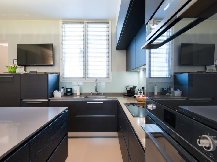 am233nagement dun duplex contemporain grande cuisine