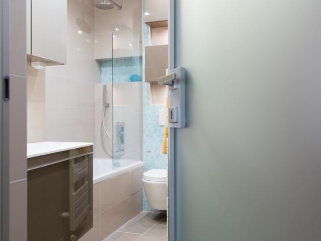 Cr ation salle de bain gain de place salle de bain am nagement gain de pl - Gain de place salle de bain ...
