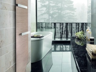 salle de bain avec sèche serviette Zehnder