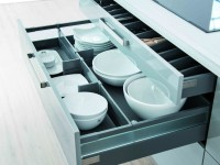 tiroir de rangement pour couvert et vaisselle