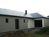 vue d'ensemble de la maison bois