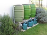 Cuve de récupération d'eau de pluie en PVC