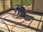 Plancher chauffant en fibre de bois