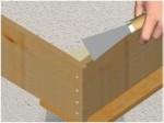 Réparer la pierre: la méthode du coffrage