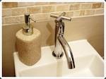 Le lavabo de toilettes
