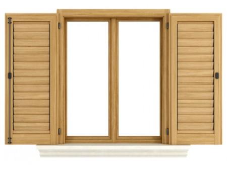 Autour de la fenêtre en bois