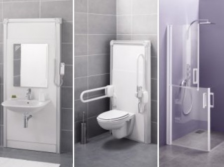 Une salle-de-bains adaptée aux personnes âgées et handicapées