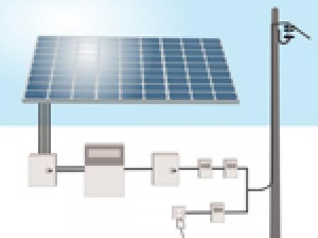 Installation photovoltaïque en vente partielle