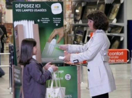 Recyclage des lampes usagées