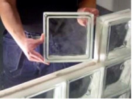 construire une paroi en briques de verre fiches brico. Black Bedroom Furniture Sets. Home Design Ideas