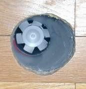 Ventilateur vu de l'intérieur de la maison