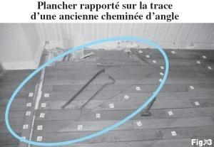 Plancher rapporté avec trace