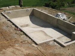 Chape piscine