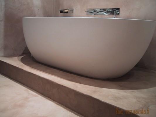 B ton cir objets design am nagement id for Salle bain beton cire
