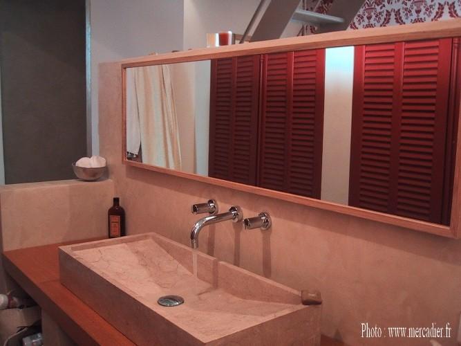 Salle de bains beton cire