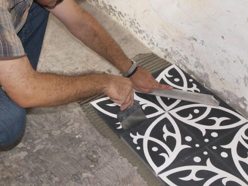 carrelage ciment sols id. Black Bedroom Furniture Sets. Home Design Ideas