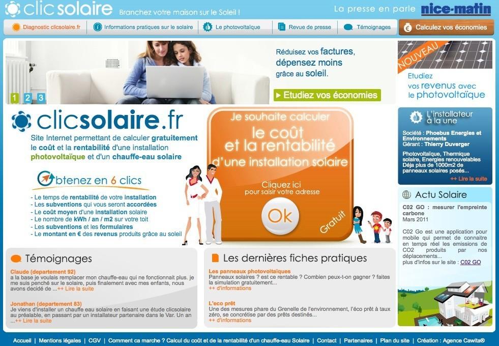 Banniere clic solaire