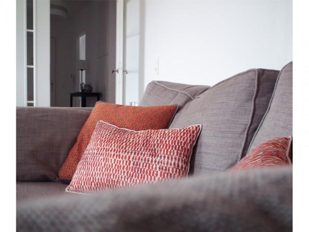 La vue sur le canapé